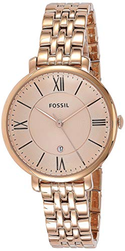 Fossil Damen Analog Quarz Uhr mit Edelstahl Armband ES3435