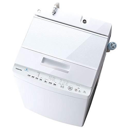 東芝 8.0kg全自動洗濯機 ZABOON グランホワイト AW-8D8(W)