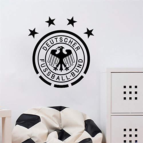JXFFF Decoración de fútbol Real Madrid Logo Etiqueta de Arte de Pared Etiqueta de Oficina Dormitorio Mural Bola Equipo Decoración Vinilo Etiqueta 42x58.5cm
