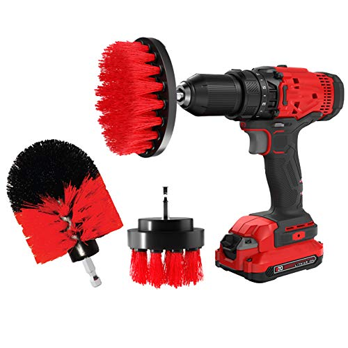 Drill Brush Set Attachment Kit - Pack of 3 - All Purpose Power Scrubber Cleaning Set for Grout, Tiles, Sinks, Bathtub, Bathroom & Kitchen Surface