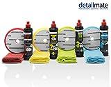 detailmate set per luccidare - Lucidante auto Menzerna 250ml - pasta abrasiva HC1000 + abrasivo medio 2200+ Super Finish Plus SFP3800 + liquida Carnauba + 4 tamponi Menzerna + 4 panni per lucidatura