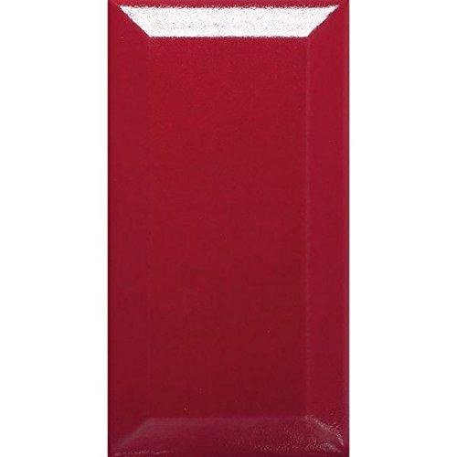 1MQ Metro Piastrelle in ceramica mosaico Facette Piastrelle Rosso Lucido