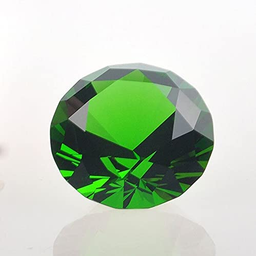 Decor Feng Shui 1pcs/lot 80mm Crystal Glass Quartz Green Diamond