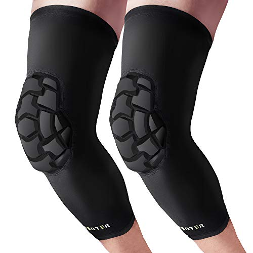 BERTER Knee Brace - Anti-Collision Knee Compression Sleeves Support- Men Women Knee Pads for Basketball, Volleyball, Running, Working Out (M)