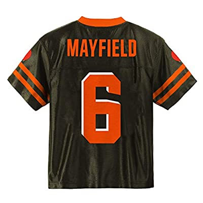 Baker Mayfield Cleveland Browns #6 Brown Youth Player Home Jersey (Medium 10/12)