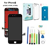 Compatible with iPhone 8 (4.7 inch)-3D Touch LCD Complete Repair-LCD Touch Digitizer Display Glass with Waterproof Adhesive,Tempered Glass,Tools,Instruction,Free Cover (Black)