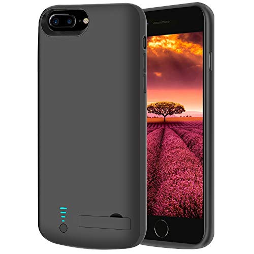 [Upgraded] RUNSY Battery Case for iPhone 8 Plus / 7 Plus / 6S Plus / 6 Plus, 8000mAh Rechargeable Extended Battery Charging / Charger Case, Adds 2x Extra Juice, Support Wire Headphones (5.5 inch)