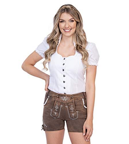 Jeans hot pants Anni – Pantaloni in pelle Chinio Stretch – Bellissimi pantaloni in pelle Oktoberfest marrone 40