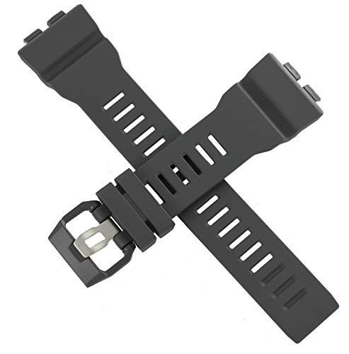 Correa de reloj Casio genuina para GBA-800 GBA 800 gris 10561447