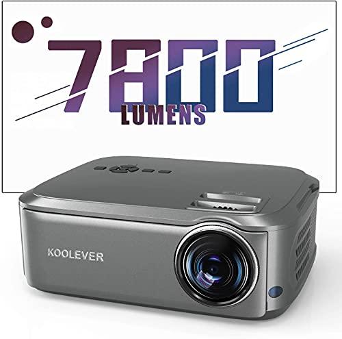 Proyector de cine en casa 80.000 horas 1080P Full HD 7800 lúmenes LCD LED Video Proyector para películas entretenimiento juegos Viajar Soporta HDMI VGA AV USB Micro SD
