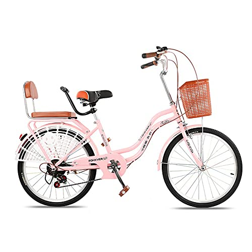Variable Speed Bicycles, Commuter Bicycles, 24-inch Tires, 6-Speed, High-Carbon Steel Frame, Used for Commuting to and from Get Off Work, Suitable for Adults/B/As Shown