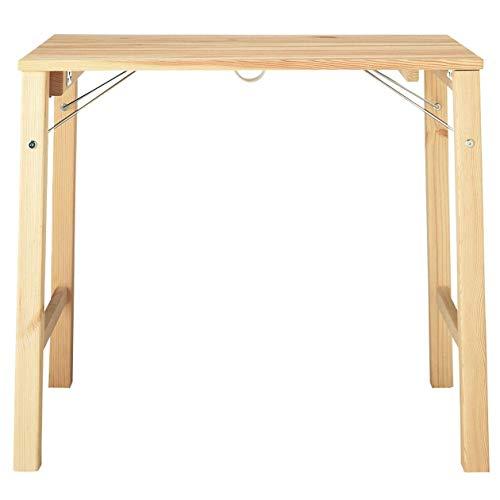 無印良品 パイン材テーブル・折りたたみ式 幅80×奥行50×高さ70cm 02460792