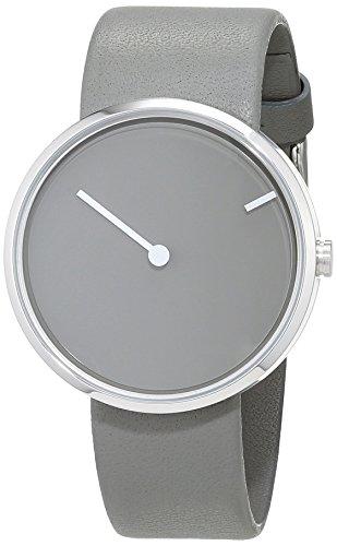 Jacob Jensen Unisex Analog Quarz Uhr mit Leder Armband 32252