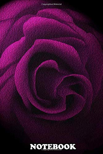 Notebook: Textured Pink Rose , Journal for Writing, College Ruled Size 6' x 9', 110 Pages