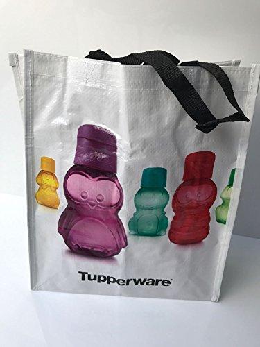 TUPPERWARE Tasche Einkaufstasche bis 15 kg belastbar Kinder weiß schwarz Sporttasche Schwimmtasche Pinguin Shopper Schwimmbad
