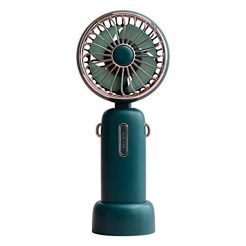 Grineka 2021年NEWモデル 4800mAh usb充電式 大容量 低騒音 公式 フレハンディファン 携帯扇風機 手持ち扇風機 卓上扇風機 USB充電式 5段階風量調整 手持ち扇風機 寝室/車内/オフィス/アウトドアなど適用 ユニバーサルホース50cm、360度の給気調整が可能 強風ミニミュートポータブル扇風機付き充電式ハンドヘルドUSBファン