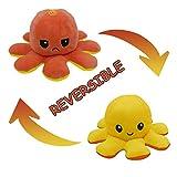 OPIAL Octopus Plüschtiere, Doppelseitige Flip Octopus Puppe, Weiche Reversible Octopus Kuscheltier Puppe, Kreative Spielzeuggeschenke für Kinder, Familie, Freunde B1
