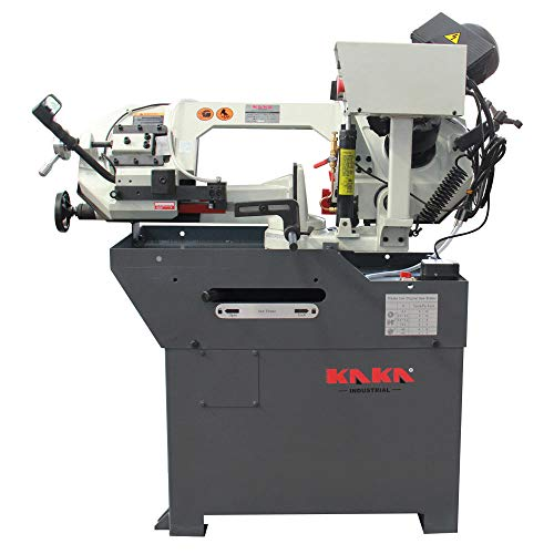 KAKA Industrial Metal Cutting Band Saw,Solid Design Metal Bandsaw, Horizontal Bandsaw, High Precision Metal Band Saw, Build-In Safety Settings, Space Saver Metal Cutting Band Saw (BS-108G)