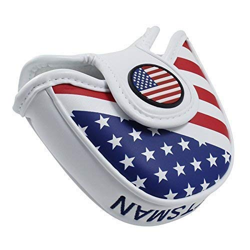 CRAFTSMAN GOLF USA America Mallet Putter Cover Headcover for Scotty Cameron Odyssey (for Heel Shaft)