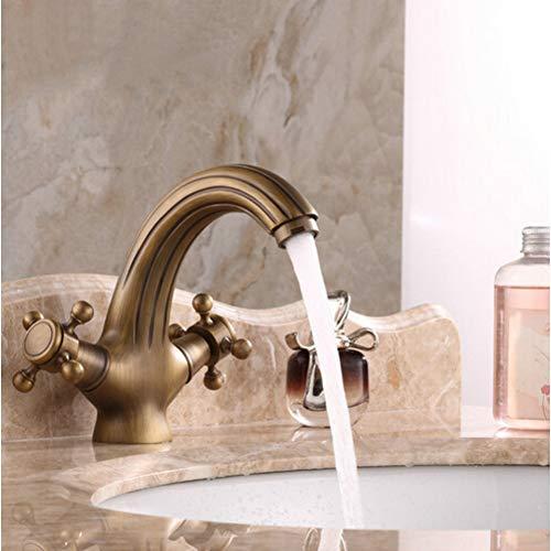 Grifo de baño de calidad Grifos de latón antiguo Grifo mezclador de grifo de doble grifo Grifo mezclador