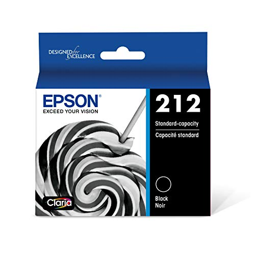 EPSON T212 Claria Ink Standard Capacity Black Cartridge (T212120-S) for select Epson Expression and WorkForce Printers