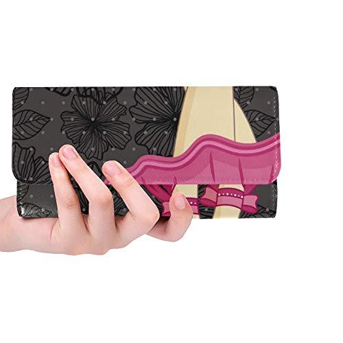 Einzigartige benutzerdefinierte schöne Füße Ballerina Spitzenschuhe auf Frauen Trifold Wallet Lange Geldbörse Kreditkarteninhaber Fall Handtasche