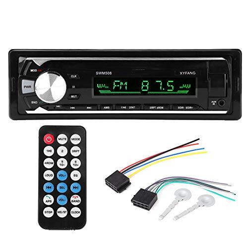 Lettore MP3 sostituzione per auto, scheda 12V U Disco Bluetooth Lettore MP3 sostituzione per auto Radio FM o stereo Vivavoce Lettore MP3 sostituzione per auto Telecomando