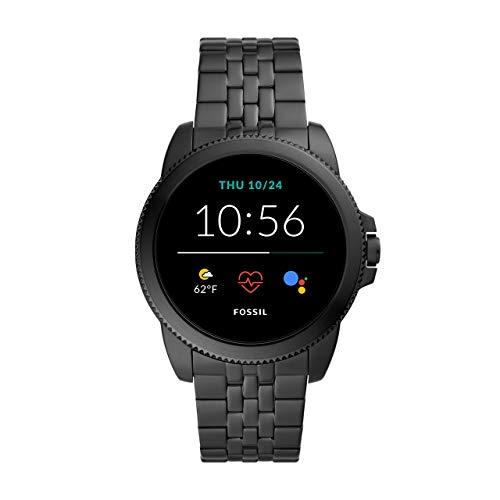 Fossil Connected Smartwatch Gen 5e para Hombre con tecnología Wear OS de Google, frecuencia cardíaca, NFC y notificaciones smartwatch, Acero Inoxidable Negro