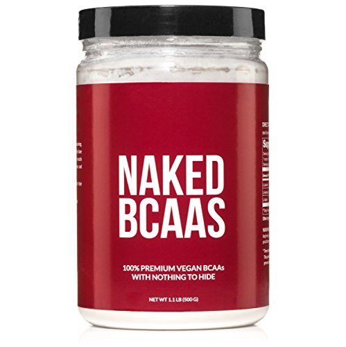 Naked BCAAs Amino Acids Powder - 100 Servings - Vegan Unflavored Branched Chain Amino Acids 500 Grams | 100% Pure 2:1:1 Formula - Instantized All Natural BCAA Powder Supplement to Increase Gains