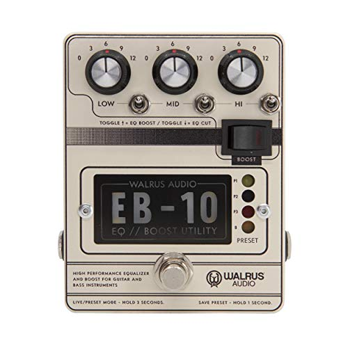 Walrus Audio EB-10 Preamp/EQ/Boost, Cream, (900-1049C)