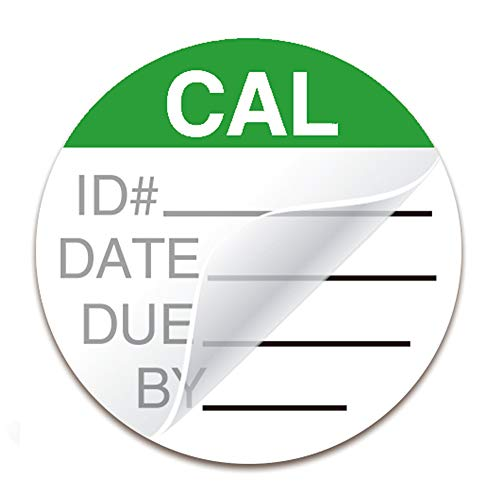 Self Laminating Calibration Labels 1.5 Inches - Write-on Calibration Stickers with Spiral Bound Cover for for NIST Calibration, ISO-900 Calibration 128 Labels (Bright Green, 1.5 Inches)