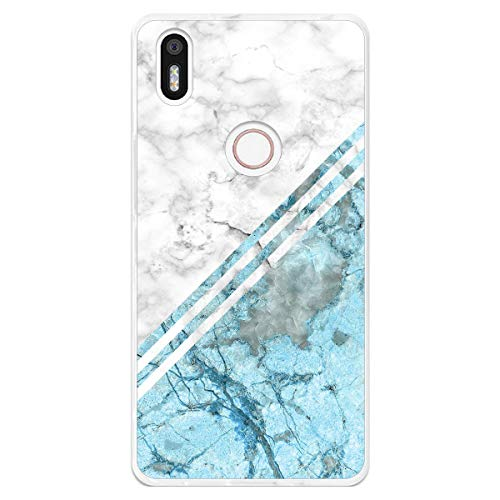 Tumundosmartphone Funda Gel TPU para Bq Aquaris X5 Plus diseño Mármol 02 Dibujos