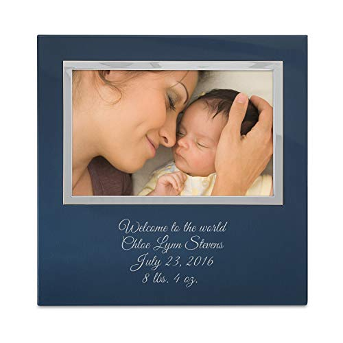 Things Remembered Personalized Blue Uptown 4 x 6 Landscape Frame with Engraving Included