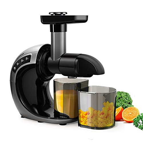 CHULUX Slow Masticating Juicer Machine,High Yield Cold Press Vegetable Fruit Juice Extractor Maker,Low Noise, More Nutritive Juice for Wheatgrass Carrot Kale Celery