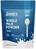 Judee's Whole Milk Powder - 11oz Resealable Pouch   100% Non-GMO, rBST Hormone-Free, Gluten-Free & Nut-Free   Pantry Staple, Baking Ready and Great for Travel   Made in USA