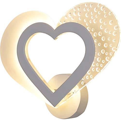Muur Sconce Lights Romantische Sweet Heart Wandlamp Moderne Minimalistische led Nachtlampje Creatieve Persoonlijkheid Aisle Corridor Slaapkamer Wandlampen L25cm×B26.5cm×T1cm