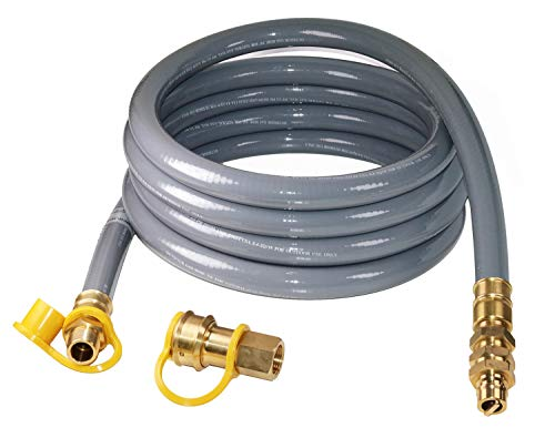 DOZYANT 15 Foot 3/4inch ID Natural Gas Hose with Quick Connect/Disconnect Fittings for Generator, Construction Heaters and More NG/Propane Appliance Connectors Grill Hoses
