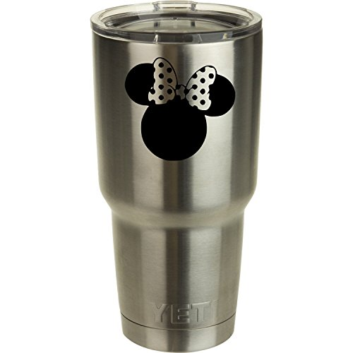 Classy Vinyl Creations Minnie Mouse Decal (we Don't Sell tumblers) for Yeti Ozark Trail Arctic Tumbler Walt Disney Disney World Ozark Trail Tumber Black or White Decals 2.75