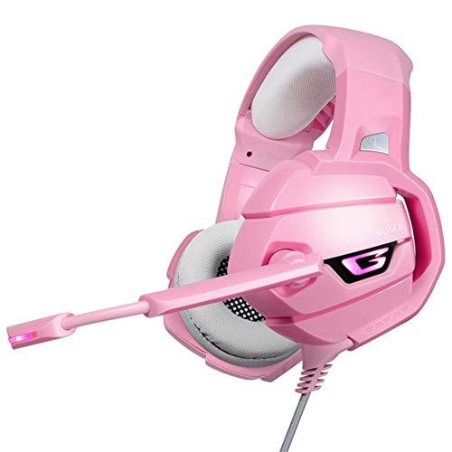Stereo-kabel-gaming headset met ruisonderdrukking microfoon, kristalhelder chat, superlicht, speciaal ontworpen voor meisjes, voor PS4, Nintendo Switch, Xbox One, PC