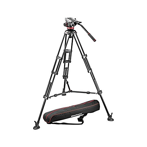 Manfrotto MVH502A,546BK-1 Professional Fluid Video System with Aluminum Legs and Mid...