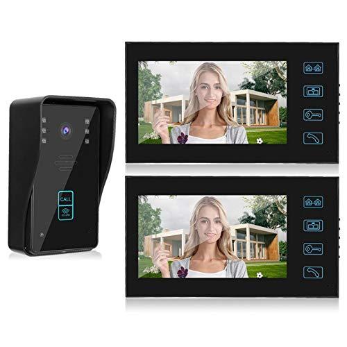 Intercom Timbre táctil botón puerta cámara cable, para sistema de control de acceso (regulación británica)