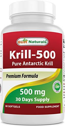 Best Naturals Krill Oil, 500 mg, 60 Softgels