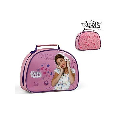 Disney Violetta Kosmetiktasche Kulturtasche 1 Fach mit Reissverschluss Make-Up Tasche für Mädchen Schminkbeutel Kindertasche mit Henkel zum Aufhängen