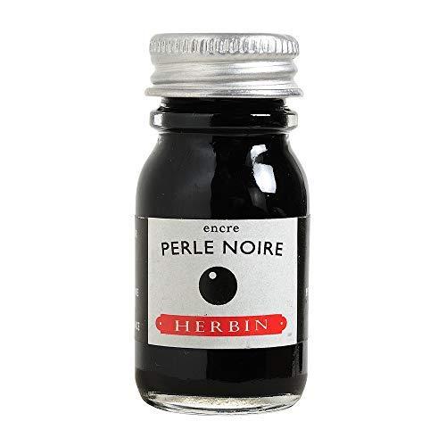J. Herbin Fountain Pen Ink - 10 ml Bottled - Perle Noire
