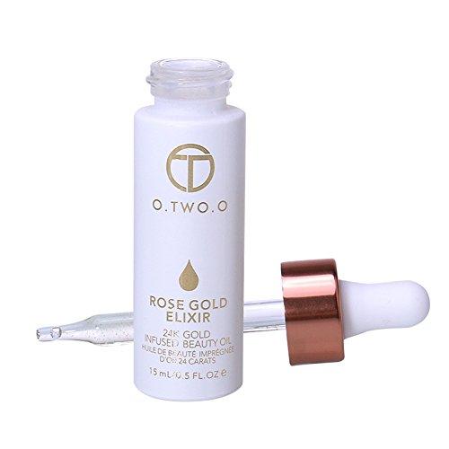 KAYI 24K Gold Infused Face Essence 15ml- Perfekt für Make-up-Primer, feuchtigkeitsspendende Lippen - Feuchtigkeitsspendende und feuchtigkeitsspendende, absorbieren schnell