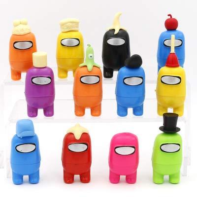 CYSJ Among Us Figuras en Miniatura 12PCS Among Us Figure Toy Entre Nosotros Juguetes Navidad DIY Figuras de Jardín Decoraciones Adornos de Mesa Escritorio Figuras de Juguete Lindas Colección