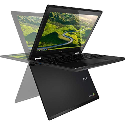 Acer R11 Convertible 2-in-1 Chromebook in Black 11.6in HD Touchscreen Intel N3060 1.6Ghz up to 2.48GHz 4GB RAM 32GB SSD, Webcam, Bluetooth, Chrome OS (Renewed)