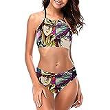 Jo-J-o's Biz-ARR-e Ad-ve-ntu-re - Conjunto de bikini halter para mujer sexy traje de baño trajes de baño 2 piezas acolchado ropa de playa