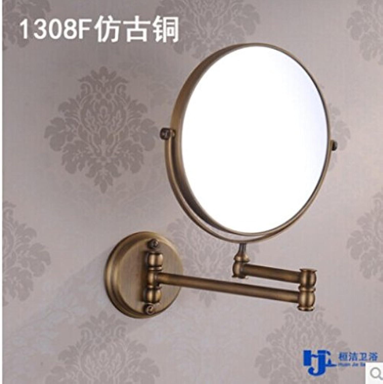 golden copper antique mirror bathroom mirror wall mounted folding retractable mirrors wall mount makeup mirror 8-inch 1308 antique copper