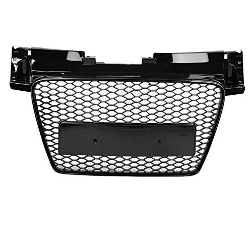 DUQYDM Honeycomb barbecue, for TT/TTS 8J 2006-2009 2010 2011 2012 2013 2013 2014 for TTRS style front sport hex mesh gloss black